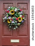 Beautiful Wreath On Door