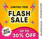 flash sale design for business. ... | Shutterstock .eps vector #1554401549