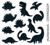 vector hand drawn set with... | Shutterstock .eps vector #1554402629