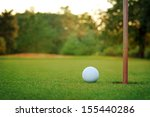 White Golf Ball On Putting...