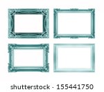 set of green picture frame... | Shutterstock . vector #155441750