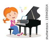 art and entertainment,beautiful lady,cartoon,cheerful,concert,enjoying,enjoyment,entertainment,grand piano,happiness,illustration,lifestyle,music,musician,occupation