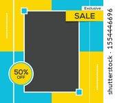 banner sale social media post... | Shutterstock .eps vector #1554446696