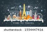 winter travel to world....   Shutterstock .eps vector #1554447416