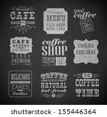 retro bakery labels and... | Shutterstock .eps vector #155446364