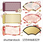 japanese pattern fans and... | Shutterstock .eps vector #1554468329