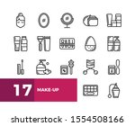 simple set of make up and... | Shutterstock .eps vector #1554508166