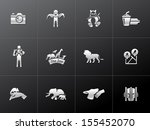 zoo icons in metallic style | Shutterstock .eps vector #155452070