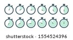 a set of stopwatch with...