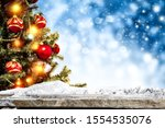 winter background of snow and... | Shutterstock . vector #1554535076