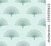 exotic palm leaves illustration.... | Shutterstock .eps vector #1554550613