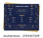 xmas vector menu template.... | Shutterstock .eps vector #1554567209
