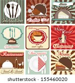 restaurant card and label set | Shutterstock .eps vector #155460020