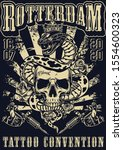 rotterdam tattoo fest vintage... | Shutterstock .eps vector #1554600323