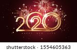 happy new year 2020 holiday... | Shutterstock .eps vector #1554605363