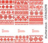 tribal vintage ethnic banners  | Shutterstock .eps vector #155463098