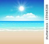 seascape vector illustration.... | Shutterstock .eps vector #155465288