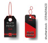 set of black friday sale black... | Shutterstock . vector #1554654623
