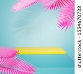 yellow empty shelf on light... | Shutterstock . vector #1554670733
