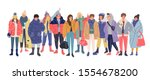 set of young man and woman in... | Shutterstock .eps vector #1554678200