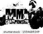 mma championship typographical... | Shutterstock .eps vector #1554689249