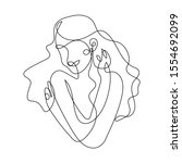 woman hugging herself in... | Shutterstock .eps vector #1554692099