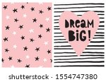 dream big. lovely simple wall... | Shutterstock .eps vector #1554747380