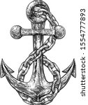 an anchor from a boat or ship... | Shutterstock .eps vector #1554777893