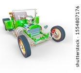 no branded roadster car front... | Shutterstock . vector #1554807176