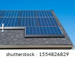 Tesla Solar Panels On Roof Wit...