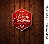 typographic label merry...   Shutterstock .eps vector #155485763