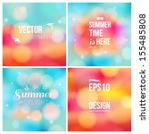 set of soft blurry backgrounds... | Shutterstock .eps vector #155485808