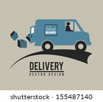 fast delivery icon over beige... | Shutterstock .eps vector #155487140