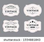 vintage label banner badges set.... | Shutterstock .eps vector #1554881843
