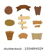 a set of wooden pointers ... | Shutterstock .eps vector #1554894329