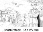 the sketch coloring page  ... | Shutterstock . vector #155492408