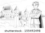 the sketch coloring page  ... | Shutterstock . vector #155492498