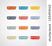 vector feedback icons isolated... | Shutterstock .eps vector #155493410