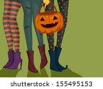 Halloween Illustration Of Girl...