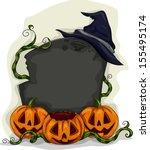halloween illustration of a... | Shutterstock .eps vector #155495174