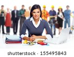 accountant business woman... | Shutterstock . vector #155495843