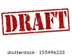 draft grunge rubber stamp on... | Shutterstock .eps vector #155496233