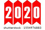 year 2020   stripes with... | Shutterstock .eps vector #1554976883
