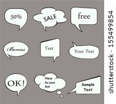 speech bubbles.vectors | Shutterstock .eps vector #155499854