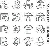 insurance icons set vector... | Shutterstock .eps vector #1555008410