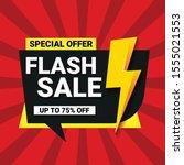 flash sale banner template...   Shutterstock .eps vector #1555021553