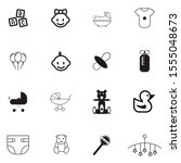 Set  Collection Of Baby Icons ...