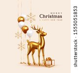 merry christmas and happy new... | Shutterstock .eps vector #1555051853
