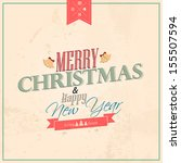 typography christmas greeting... | Shutterstock .eps vector #155507594