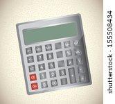 calculator design over beige... | Shutterstock .eps vector #155508434